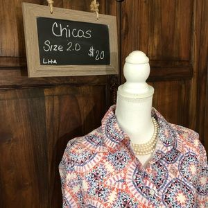 💥🆕Chico's No-iron Blouse‼️Size2 price firm